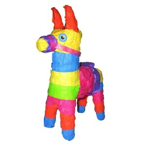 Mini Multicolor Burro Pinata